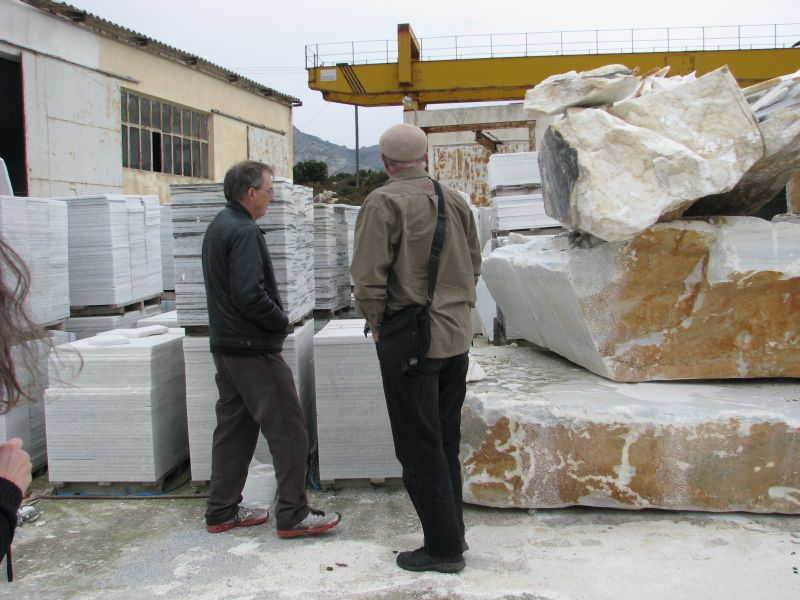 Huge blocks of marble