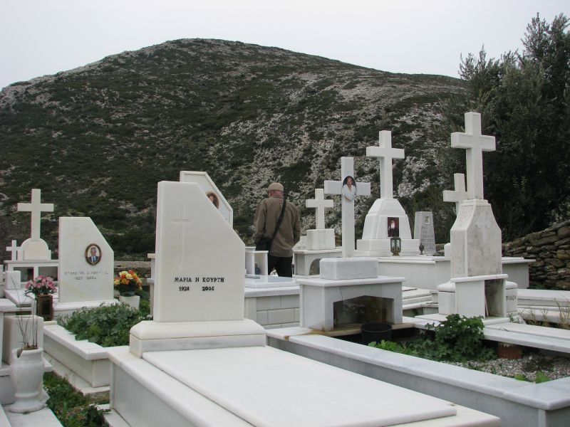 A church cemetery