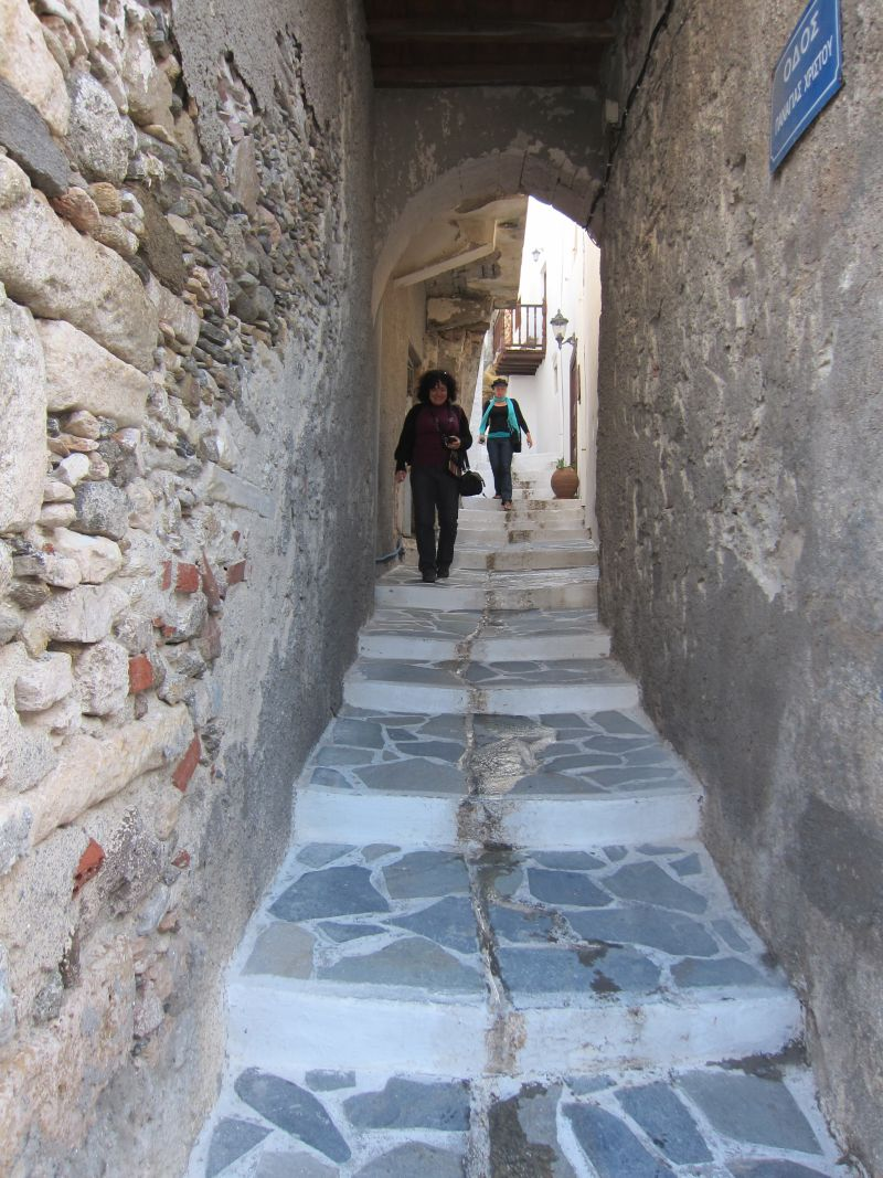 Exploring the narrow streets of Hora (Naxos Town)