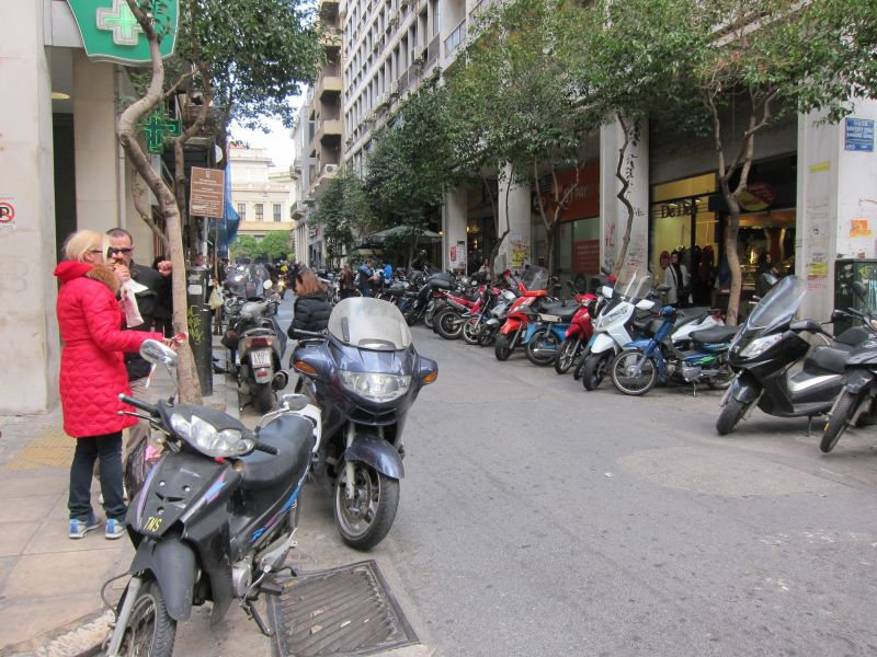 Lots and lots of motorcycles in Athens