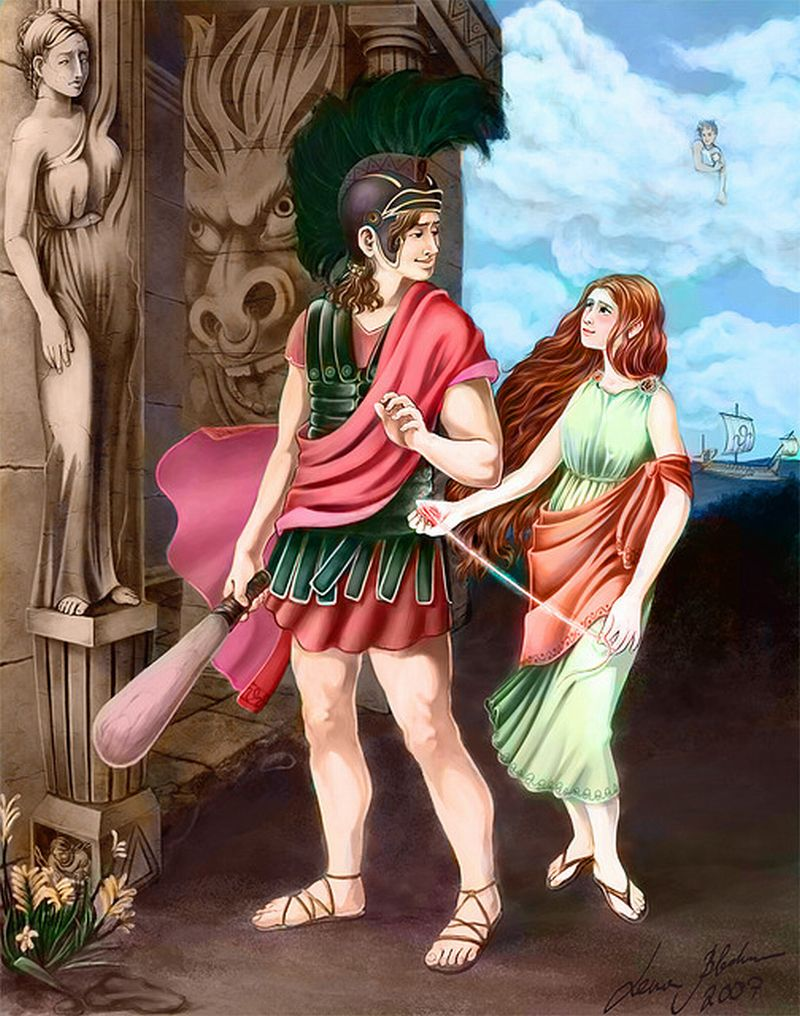 theseus and ariadne That night, ariadne escorted theseus to the labyrinth and theseus promised that if he returned from the labyrinth he would take ariadne with him.