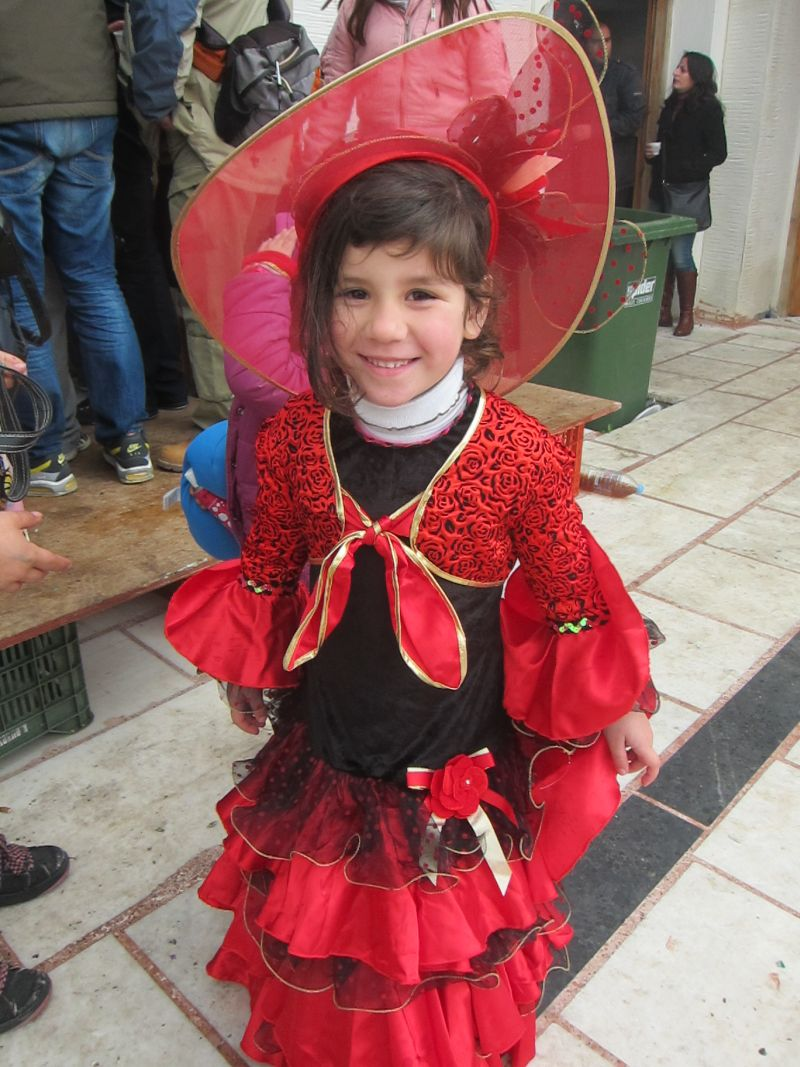 Young girl dressed in traditional clothes for the Filoti celebrations
