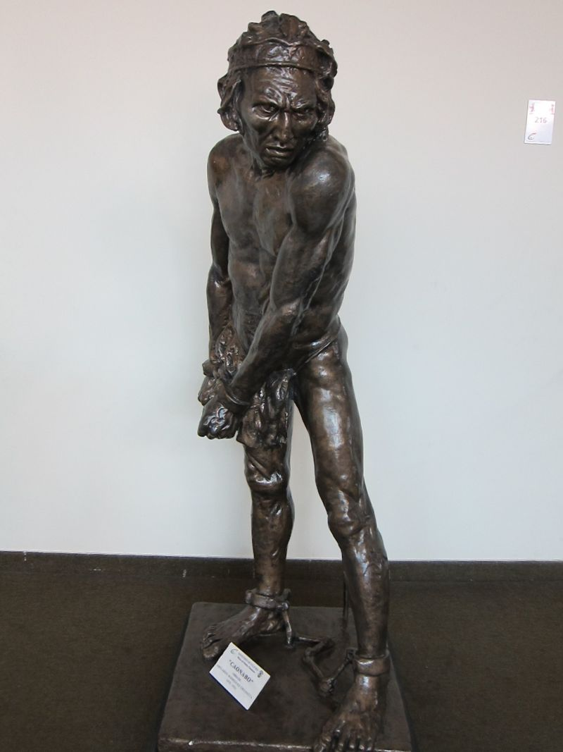 Bronze depiction of Chief Caonabo
