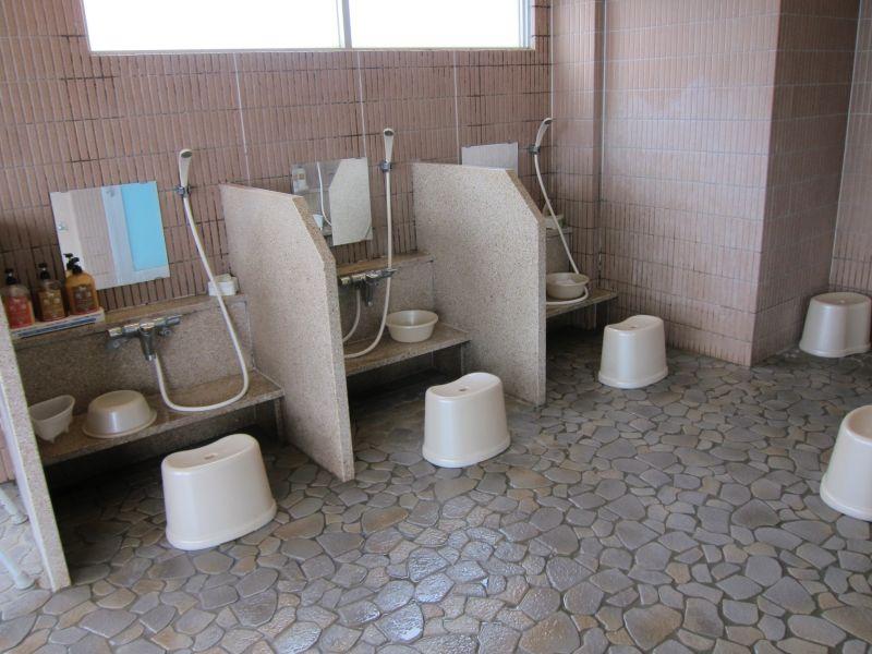 Inside a public bath