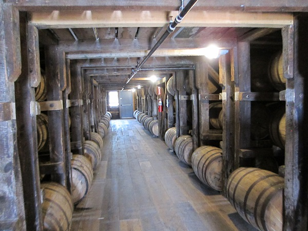 Inside a Bourbon Storage building